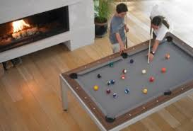 Pool table that is a dining table 7ft Fusion Pool Table Dining Table Combination The Diningroom It Slices It Dices Fusion Diningpool Table Combo Treehugger