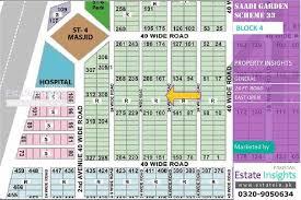 120 sqy plot in saadi garden block 4