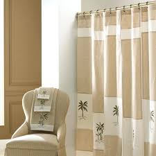 bathroom shower curtains tropical creamy inch curtain f decoration open plan room and comfy semi open