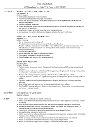 Mechanic Resume Heavy Duty Mechanic Resume Samples Velvet Jobs 99