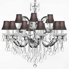 lamps creative crystal chandelier lamp shades design decorating light contemporary floor with black shade tiffany navy spider fabric small for table mini