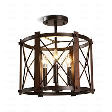 attractive inspiration industrial flush ceiling lights modern design three semi mount