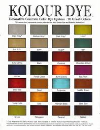 Concrete Sealer Color Chart Decorative Concrete Color Charts Sealant Depot Resources