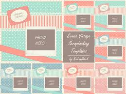Sweet Vintage Scrapbooking Templates By Xiulanstock On Deviantart