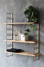 adjule brass wood wall shelf tap to expand