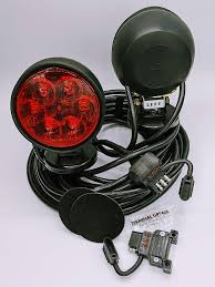 Wireless Trailer Light Tester Anc Lighthouse Led Magnetic Portable Tow Lights Stt 4 Way Flat Led Plug 1 Spare Trailer End Plug 1 Vehicle Side Led Plug 37 Feet Total