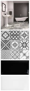 Mix brick shaped metros and patterned Zeinah Tiles for a striking  monochrome / Moroccan mash up
