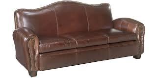 camelback leather sofa