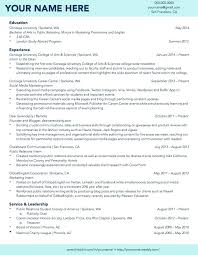 Resume Out Of College Resume College Graduate – Esdcuba.co