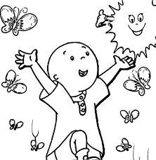 Caillou Coloring Pages In Pic