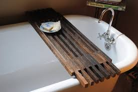 rustic wooden caddy and best clawfoot tub for wonderful bathroom in inspirations 15