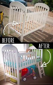 furniture repurpose. DIY Furniture Hacks | Crib Into Toddler Loft Bed Cool Ideas For Creative Do It Repurpose