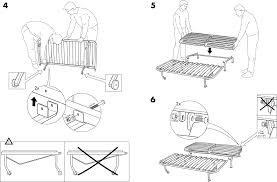 Ikea Instruction Manuals Ikea Chairs Lycksele Frame Sofabed Pdf Assembly Instruction Free