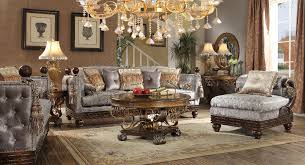 Victorian Living Room Set Homey Design Hd 1212 3pcs Athens Euro Sofa Chaise Chair Set