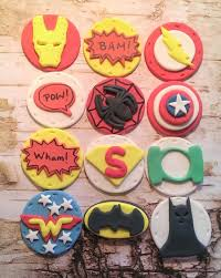 Superhero Fondant Cupcake Cake Cookie Toppers Set Includes Etsy