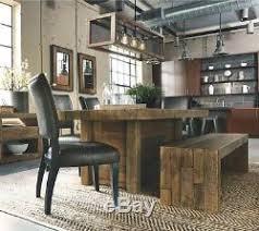 Grande Table De Salle à Manger Rustique En Bois Récupéré Cuisine En