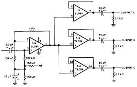 channels audio splitter amplifier circuit using tl circuit 3 channels audio splitter circuit using tl084