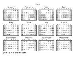 2018 calendar printable free download 2018 printable calendars