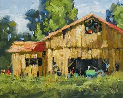 oil paintings of barns tom brown fine art americana old barn farm 8x10
