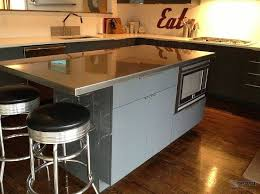 stainless steel kitchen island with butcher block top all about within islands plans 16