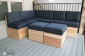 diy patio sofa plans. marvelous l shaped outdoor sectional diy modular seating shanty 2 chic patio sofa plans