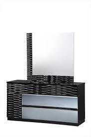 Global Bedroom Furniture Global Furniture Manhattan 5 Piece Bedroom Set In Black High Gloss