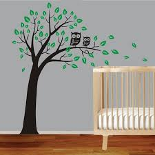 >large owl tree wall art sticker removable decor kids nursery vinyl  large owl tree wall art sticker removable decor kids nursery vinyl decal diy wall stickers for