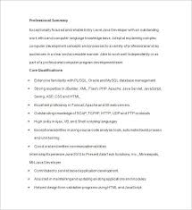 Junior Java Developer Resume Template