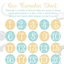 Ramadan Activity Chart Zed Q Muslim Kids Guide