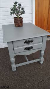 Recycled Furniture Refurbished Refinishing End Table Refinished By  ZombieQUEENxoxo More 2 Table Refinishing End Table Q