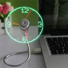 lighting gadgets. 2018 Cool Lighting Gadgets Creative Adjustable Mini USB Fans With LED Time Clock Fan U