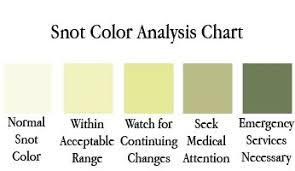 Mucus Color Chart Handy Dandy Snot Chart Cafemom Mucus Color Chart Mucus