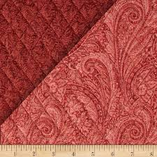 11 best Double-faced quilted fabrics images on Pinterest | To ... & Lauren Double Sided Quilted Paisley Rust Fabric By The Yard Adamdwight.com