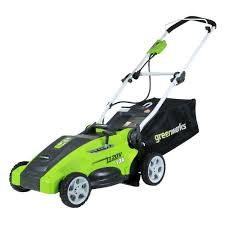 the green works greenworks 16 in 10 amp corded electric walk behind push mower