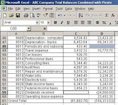 Excel Pivot Table To Compare Trial Balances Function And