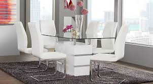 Small Picture Tria White 5 Pc Rectangle Dining Room Dining Room Sets Colors