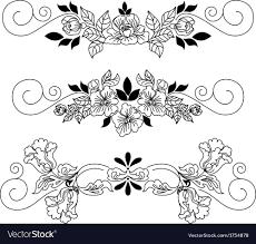 Vignette Design Drawing Flowers Vignette