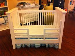 full size of ivory wooden painted baby crib bed guard rails blue stripped bed ruffle white