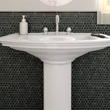 SomerTile 12x12-in Obsidian Penny 7/8-in Mirror Glass Mosaic Tile (Pack of  10) - Free Shipping Today - Overstock.com - 12378436