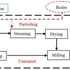 Rice Milling Flow Chart Process Flow Diagram Rice Mill Catalogue Of Schemas