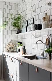 Black, White, And Wood Kitchen Inspiration Via Plaza Interior  @idlehandsawake White Tile Kitchen