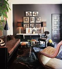 tour stylish office los. A Cowhide Rug Adds An Unexpectedly Luxurious Texure Underfoot. \ Tour Stylish Office Los