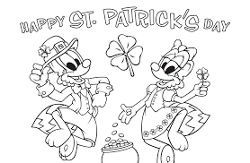 St Patricks Day Coloring St Patricks Day Coloring Page Waterford Upstart
