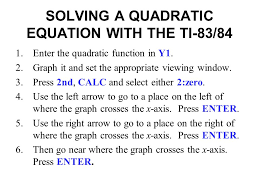 solving quadratic equations calculator ti 84 jennarocca