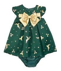 Bonnie Jean Baby Girls Newborn 24 Months Reindeer Jacquard Trapeze Dress