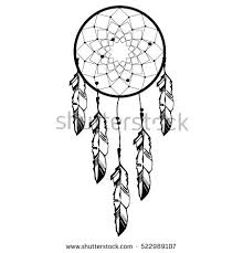 Native Dream Catchers Drawings Hand drawn Native American Indian talisman dreamcatcher with 33