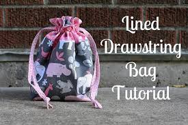 Drawstring Bag Pattern Mesmerizing Lined Drawstring Bag Pattern And Samples Made With Tula Pink New