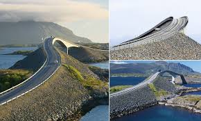 Norway's Storseisundet <b>Bridge</b> sees drivers lashed by powerful wind ...