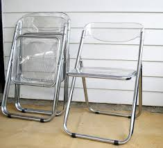 marvelous set of 6 lucite folding chair and chrome framed folding chairs and gl seat and