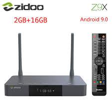 Mới ZIDOO Z9X Smart Tivi Box Android 9.0 1000M 4K HDR Realtek RTD1619DR GB  RAM 16GB BT 4.2 4K HD Set Top Box Hỗ Trợ Dolby Vision|Thiết bị thu nhận tín  hiệu